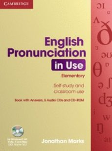english pronunciation in use : elementary book with answers, 5 au dio cds and cd-rom-sylvie donna-9780521693738