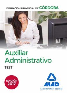auxiliares administrativos de la diputacion provincial de cordoba : test-9788414208038
