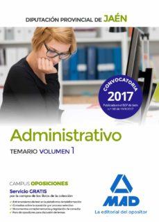 administrativos de la diputacion provincial de jaen: temario (vol. 1)-9788414210338