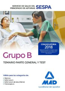 Lofficielhommes.es Grupo B Del Servicio De Salud Del Principado De Asturias: Temario Parte General Y Test Image