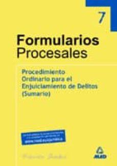 Milanostoriadiunarinascita.it Coleccion Formularios Y De Parte. Procedimiento Ordinario Para El Enjuiciamiento De Delitos (Sumario) (Vol. 3) Image