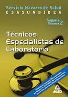 Geekmag.es Tecnicos Especialistas De Laboratorio Del Servicio Navarro De Sal Ud: Osasunbidea: Temario (Vol. Ii) Image