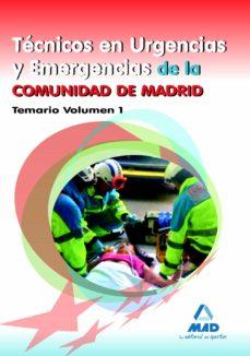 tecnicos en urgencias y emergencias de la comunidad de madrid. te mario volumen i-9788467679038