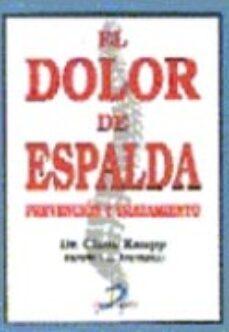 Descarga gratuita de libros electrónicos de rapidshare EL DOLOR DE ESPALDA: PREVENCION Y TRATAMIENTO