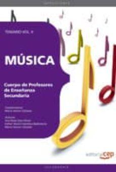 Carreracentenariometro.es Cuerpo De Profesores De Enseñanza Secundaria. Musica. Temario Vol Ii Image