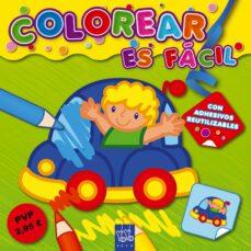 Chapultepecuno.mx Colorear Es Facil: Verde (Con Adhesivos Reutilizables)(yoyo Book) Image