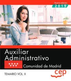Ojpa.es Auxiliar Administrativo. Comunidad De Madrid. Temario. Vol.ii Image