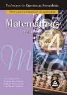 Inmaswan.es Matematicas (Vol. Ii): Temario Para La Preparacion De Oposiciones De Profesores De Enseñanza Secundaria Image