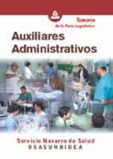 Padella.mx Auxiliares Administrativos Del Servicio Navarro De Salud-osasunbi Dea: Temario Image