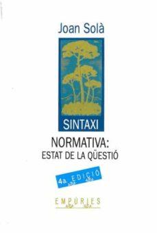 Mrnice.mx Sintaxi Normativa: Estat De La Qüestio (2ª Ed.) Image
