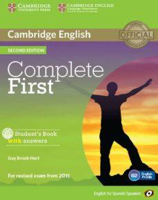 Descargar COMPLETE FIRST CERTIFICATE FOR SPANISH SPEAKERS SELF-STUDY PACK ) gratis pdf - leer online