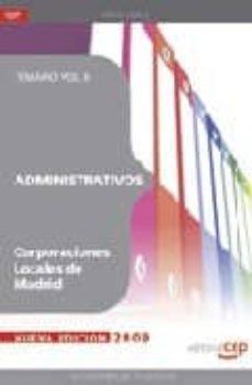 Bressoamisuradi.it Administrativos Corporaciones Locales De Madrid. Temario Vol. Ii. Image