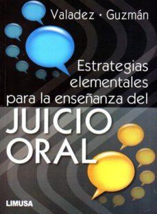 Chapultepecuno.mx Estrategias Elementales Para La Enseñanza Del Juicio Oral Image