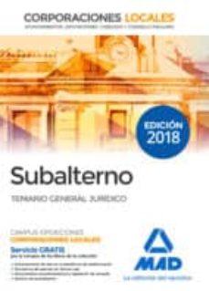 Vinisenzatrucco.it Subalterno Corporaciones Locales. Temario General Jurídico Image