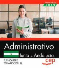 ADMINISTRATIVO (TURNO LIBRE) JUNTA DE ANDALUCIA TEMARIO