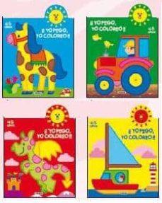 Vinisenzatrucco.it ¡¡Yo Pego, Yo Coloreo!! 4-5 Años (4 Titulos) Image