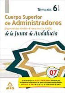 Geekmag.es Cuerpo Superior De Administradores De La Junta De Andalucia. Espe Cialidad Administradores De Gestion Financiera (A1200). Temario (Vol. Vi) Image