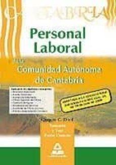 Valentifaineros20015.es Personal Laboral De La Comunidad Autonoma De Cantabria Grupos C, D Y E. Temario Y Test Parte Comun Image
