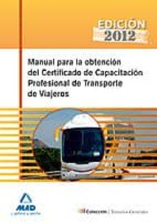Curiouscongress.es Manual Para La Obtencion Del Certificado De Capacitacion Profesio Nal De Transporte De Viajeros Image