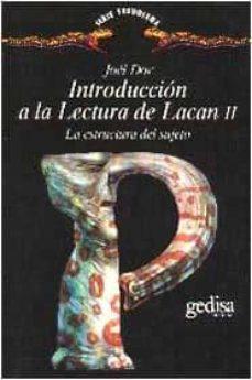introduccion a la lectura de lacan ii: la estructura del sujeto-joel dor-9788474325058