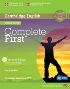 Descargar mp3 gratis audiolibro COMPLETE FIRST CERTIFICATE FOR SPANISH SPEAKERS STUDENT S BOOK WITH ANSWERS WITH CD-ROM 2ND EDITION in Spanish 9788483238158  de