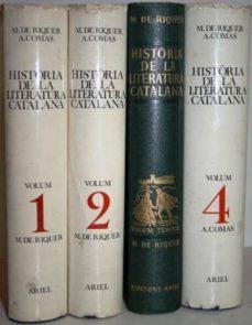 Garumclubgourmet.es Història De La Literatura Catalana. 4 Tomos Image