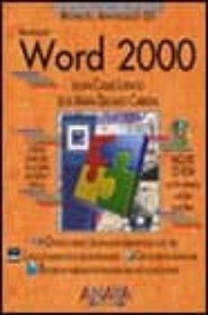 Vinisenzatrucco.it Word 2000 (Manuales Avanzados) (Incluye Cd-rom) Image