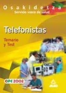 Permacultivo.es Telefonista Del Servicio Vasco De Salud-osakidetza: Temario Y Tes T Image