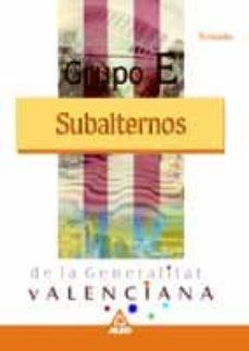 Inmaswan.es Grupo E (Subalternos) Generalitat Valenciana. Temario Image