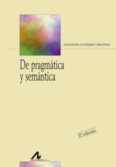 de pragmatica y semantica-salvador gutierrez ordoñez-9788476355268