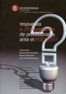 Cronouno.es Respuesta A 250 Preguntas De Profesionales Ante El Pcg 2007 Image