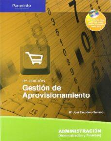 gestion de aprovisionamiento-maria jose escudero serrano-9788497327268