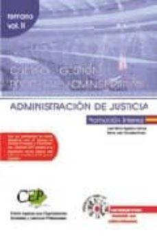 Cdaea.es Cuerpo De Gestion Procesal Y Administrativa De La Administracion De Justicia: Promocion Interna: Temario (Vol. Ii) Image