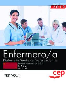 Srazceskychbohemu.cz Enfermero/a. Diplomado Sanitario No Especialista. Servicio Murciano De Salud. Sms. Test Vol.i Image