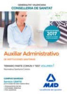 AUXILIAR ADMINISTRATIVO DE INSTITUCIONES SANITARIAS DE LA
