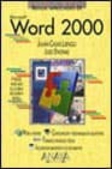 Chapultepecuno.mx Word 2000 (Manuales Imprescindibles) Image