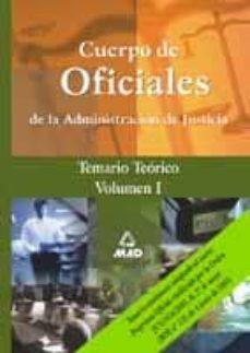 Costosdelaimpunidad.mx Cuerpo De Oficiales De La Administracion De Justicia: Temario Teo Rico (Vol. I) Image
