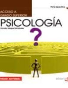 acceso a ciclos formativos de grado superior. parte especifica. p sicologia (4ª ed.)-9788468123578