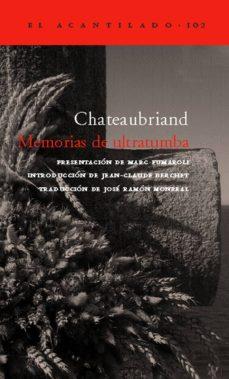 memorias de ultratumba (estuche 2 vols.)-françois rene de chateaubriand-9788496136878
