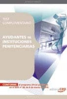 Upgrade6a.es Ayudantes De Instituciones Penitenciarias. Test Complementario Image