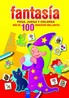 fantasia: pega, juega y colorea: amarillo-9788408089988