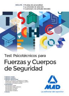 test psicotecnicos para fuerzas y cuerpos de seguridad (2ª ed.)-9788414207888
