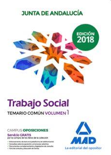 trabajadores sociales de la junta de andalucía. temario común vol umen 1-9788414215388