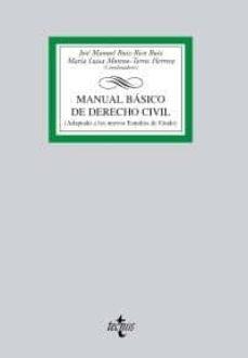 Inmaswan.es Manual Basico De Derecho Civil (Adaptado A Los Nuevos Estudios De Grado) Image