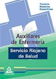 Inmaswan.es Auxiliares De Enfermeria Del Servicio Riojano De Salud. Temario M Aterias Especificas Image