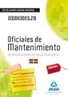 Inmaswan.es Oficiales De Mantenimiento Del Servicio Vasco De Salud-osakidetza Test De La Parte General Específica. Image
