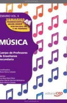 Cronouno.es Cuerpo De Profesores De Enseñanza Secundaria. Musica. Temario Vol .Ii. Image