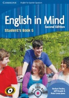 Amazon descarga gratuita de libros ENGLISH IN MIND FOR SPANISH SPEAKERS 5 STUDENT S BOOK WITH DVD-ROM 9788483237588