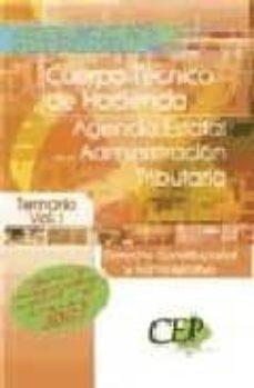 Followusmedia.es Oposiciones Al Cuerpo Tecnico De Hacienda. Agencia Estatal De La Administracion Tributaria. Derecho Constitucional Y Administrativo. Temario Vol. I Image