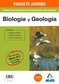PAQUETE AHORRO BIOLOGÍA Y GEOLOGÍA CUERPO DE PROFESORES DE